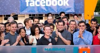 The CEO of Facebook Inc., Mark Zuckerberg, rings the bell at Nasdaq